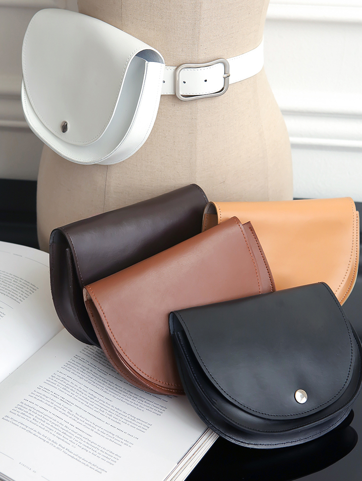 AT-297 Half Moon Leather Belt Bag