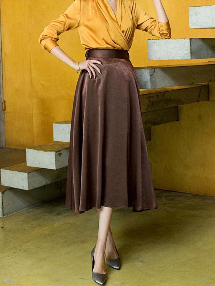 SK1765 Marang Satin pull Skirt (12th REORDER)
