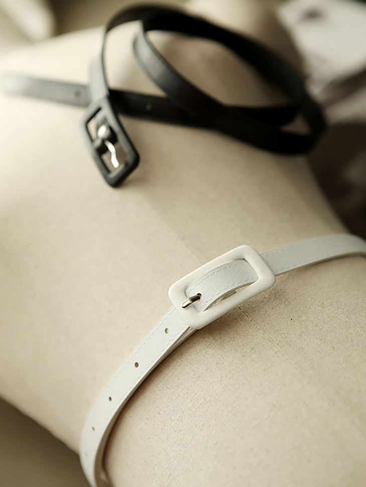 AT-156 Leather Simple Buckle Belt (69th REORDER)