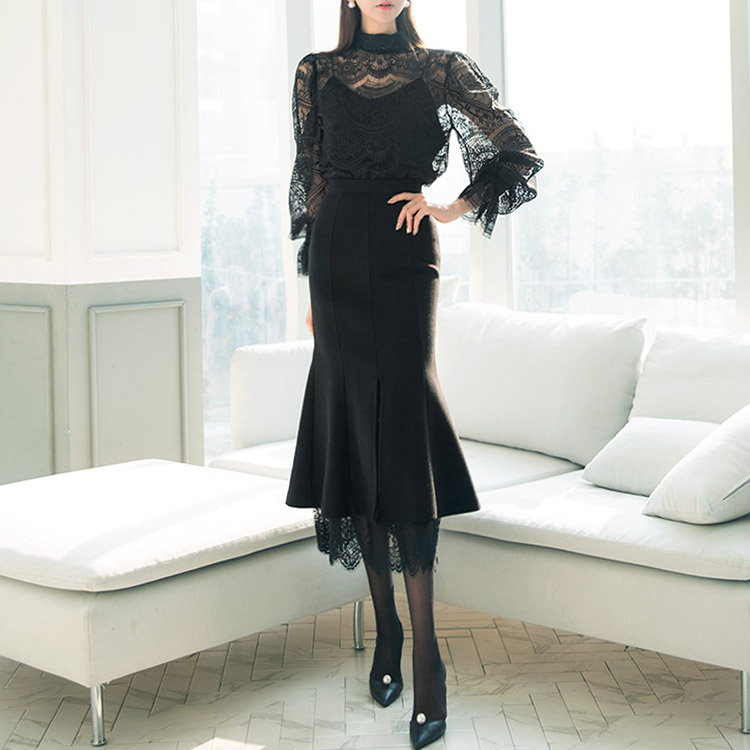 SK1804 Dust Lace Mermaid Skirt * L size production * (18th REORDER)