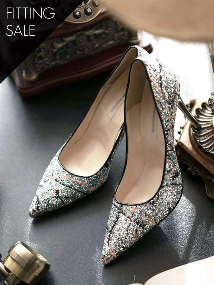 PS1393 Jardor Glitter Pump Heel * HAND MADE * * Fitting Sale *