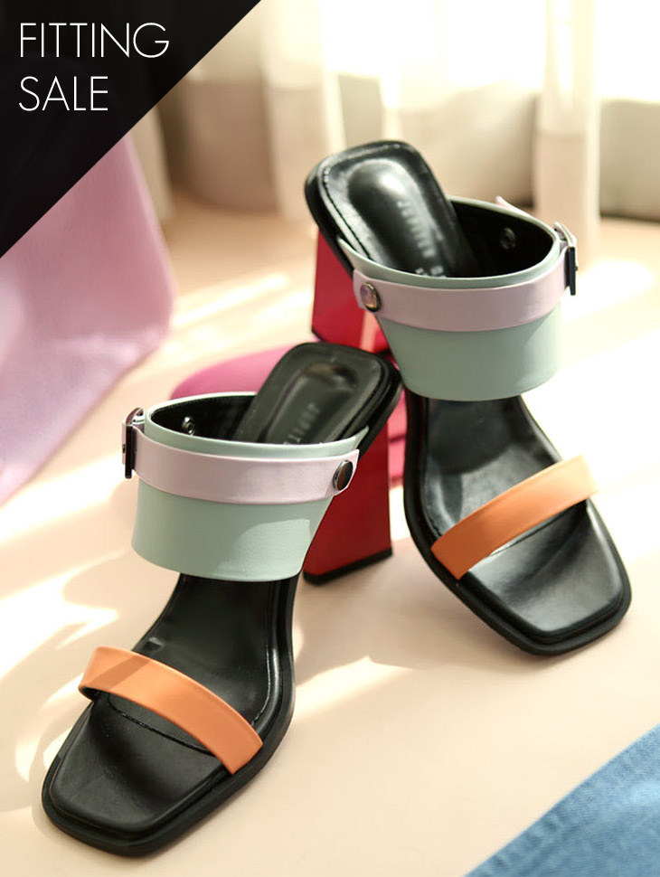 PS1428 Mod Strap Sandals Heel * HAND MADE ** Fitting Sale *
