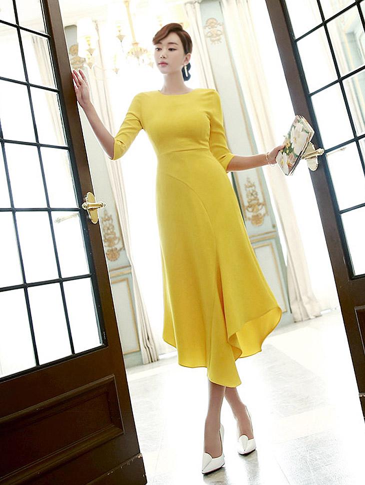 D3226 Chance Ruffle Unbalanced Dress * L size making * (90reorder)