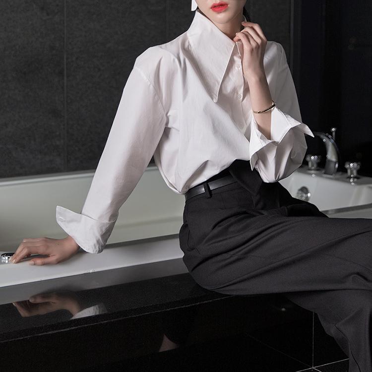 Step S283 cut unbalance Shirt (31th REORDER) * Hotel De Luna IU wear *