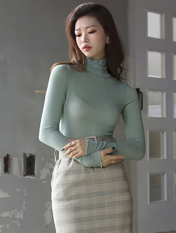 E1902 Real Basic Slim turtleneck Top (18th REORDER)