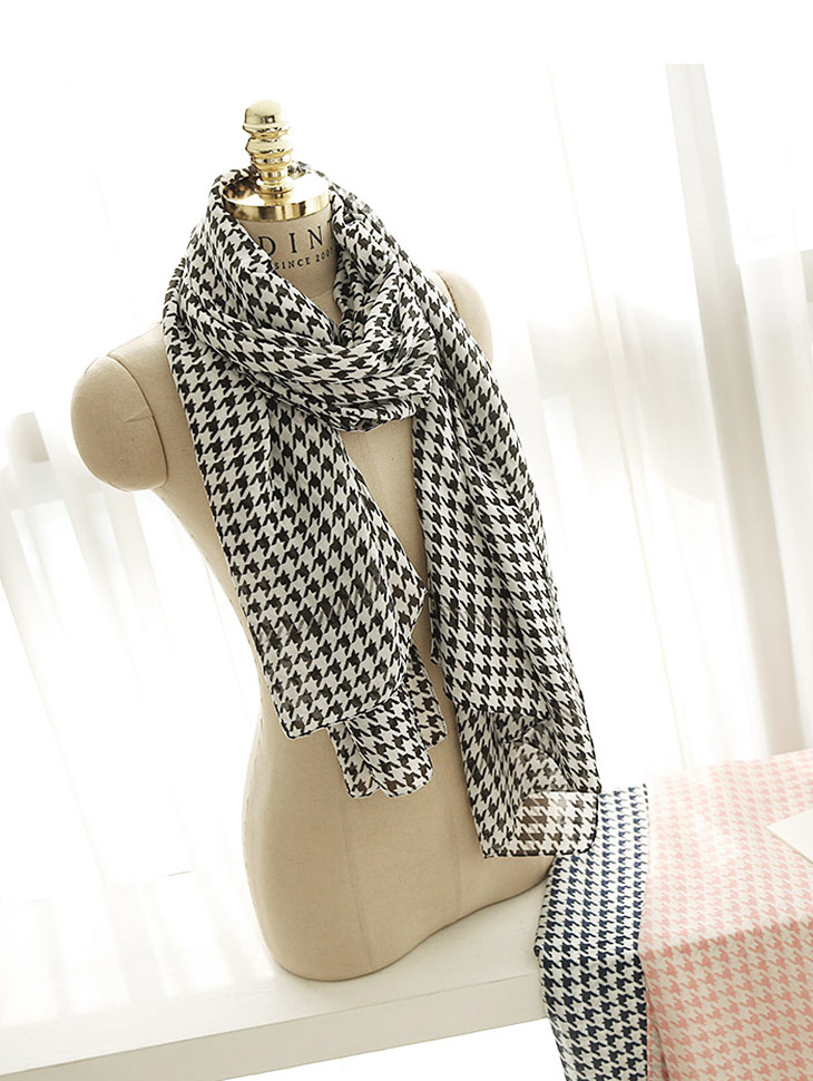 AS-1356 Houndstooth Pattern Scarf (15th REORDER)