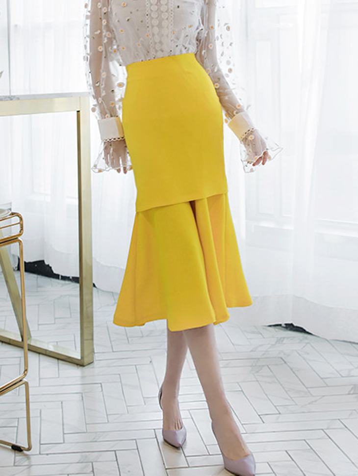 SK1633 Jane Double Long Skirt * L size making * (57reorder)