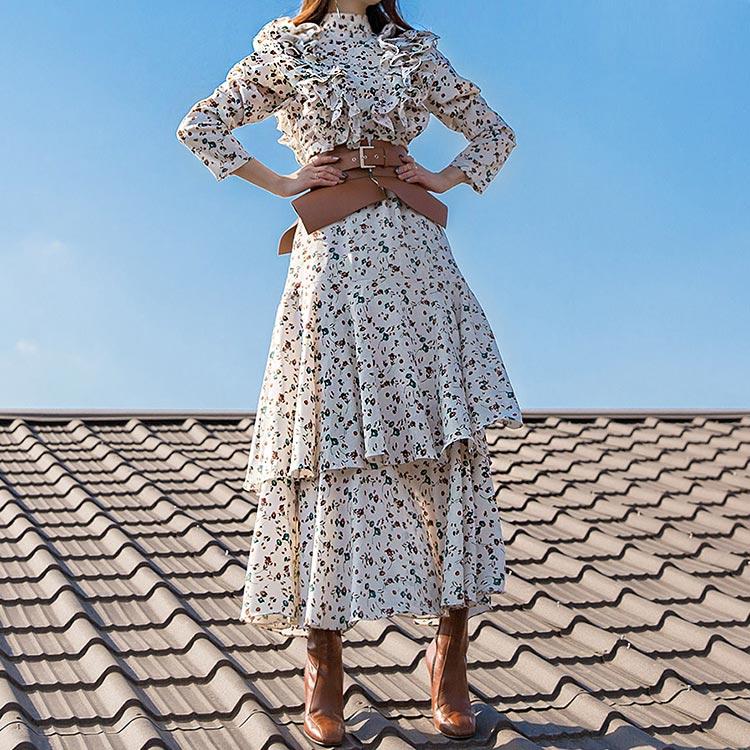 D9063 Miu Double Kkang Frill Dress (6Round reorder)