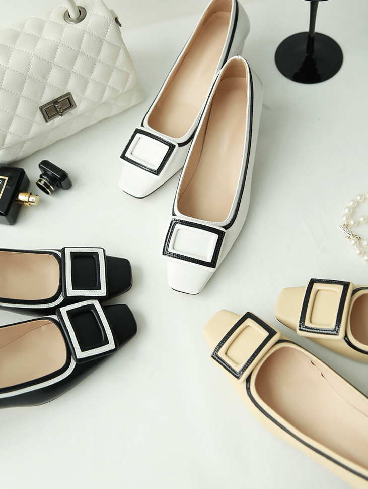 AR-2226 Front Square Arrangement of colors Line Heel (12th Reorder)