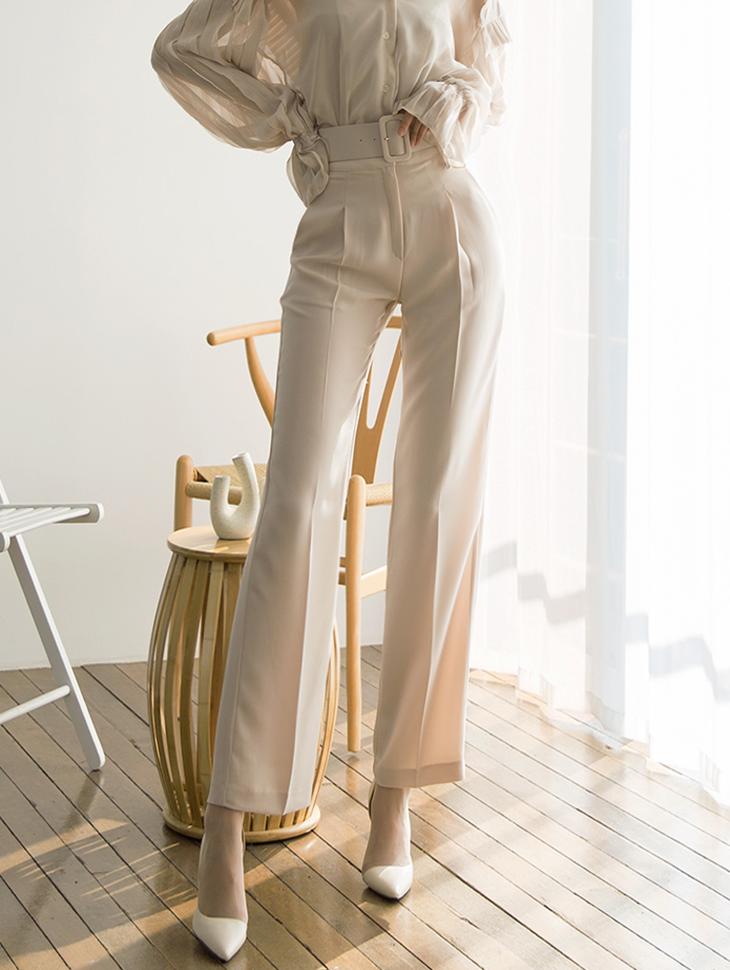 P1997 Lucia clean Slacks Pants (Beltset)