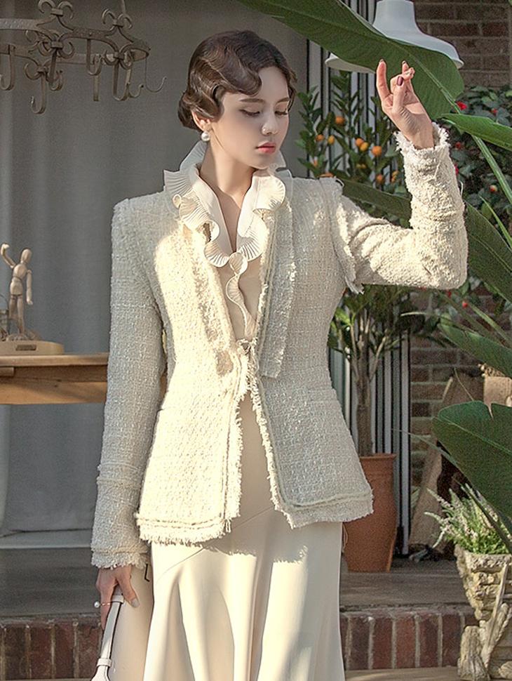 J-5143 Mel warming Tweed Jacket