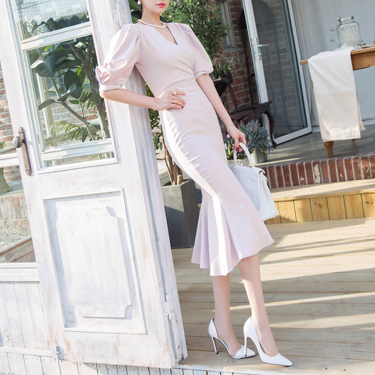 D3746 Rosslyn Volume Puff Dress * L size production * (48th REORDER)