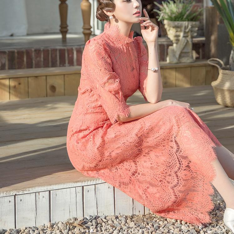 D3750 Eleven Lace Romantic Dress (9reorder)