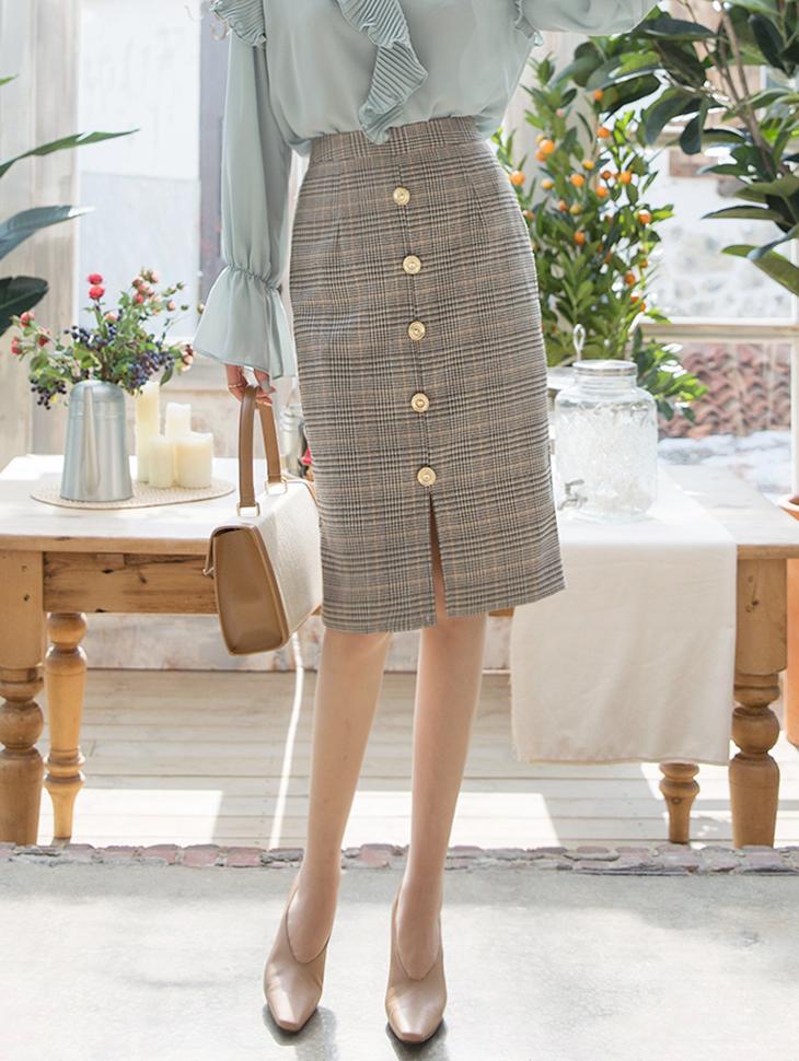 SK1845 Cardella Check Skirt (12th REORDER)