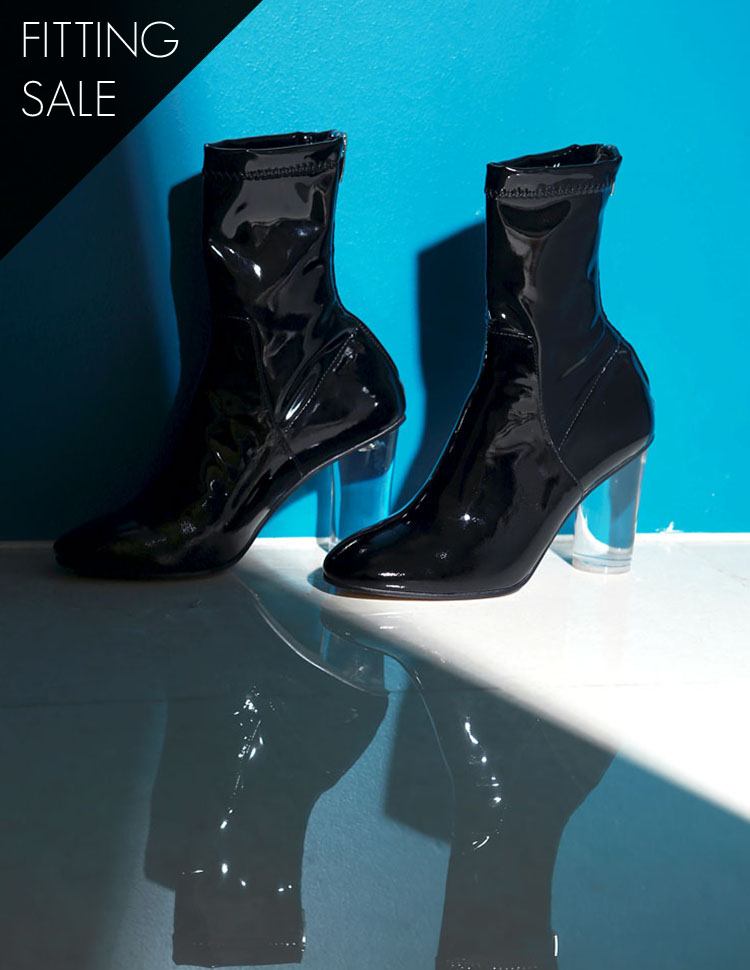 PS1539 Lupine acrylic ankle boots heel * HAND MADE ** fitting sale *