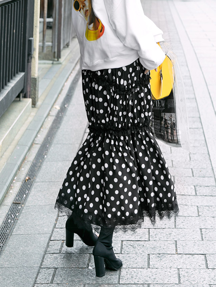 SK1698 Clutch Double Dot Skirt * Blue color *