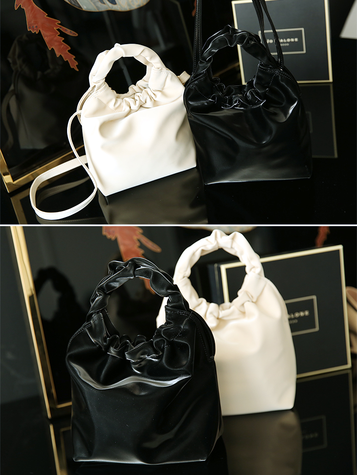 A-999 Circle Hand Glossy Leather Bag