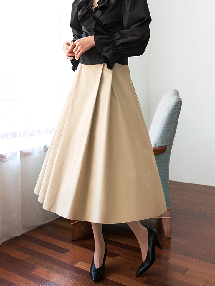 SK1861 Low Cotton Flare Skirt (3reorder)