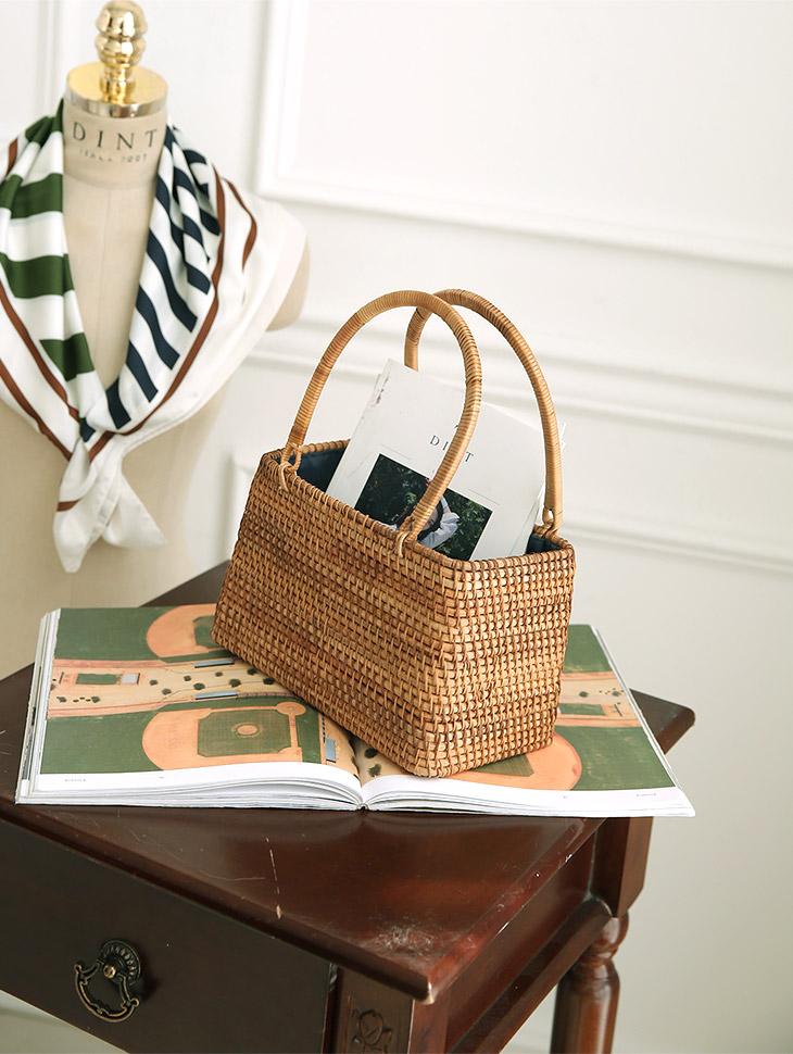A-1006 Delrin Square Rattan Bag