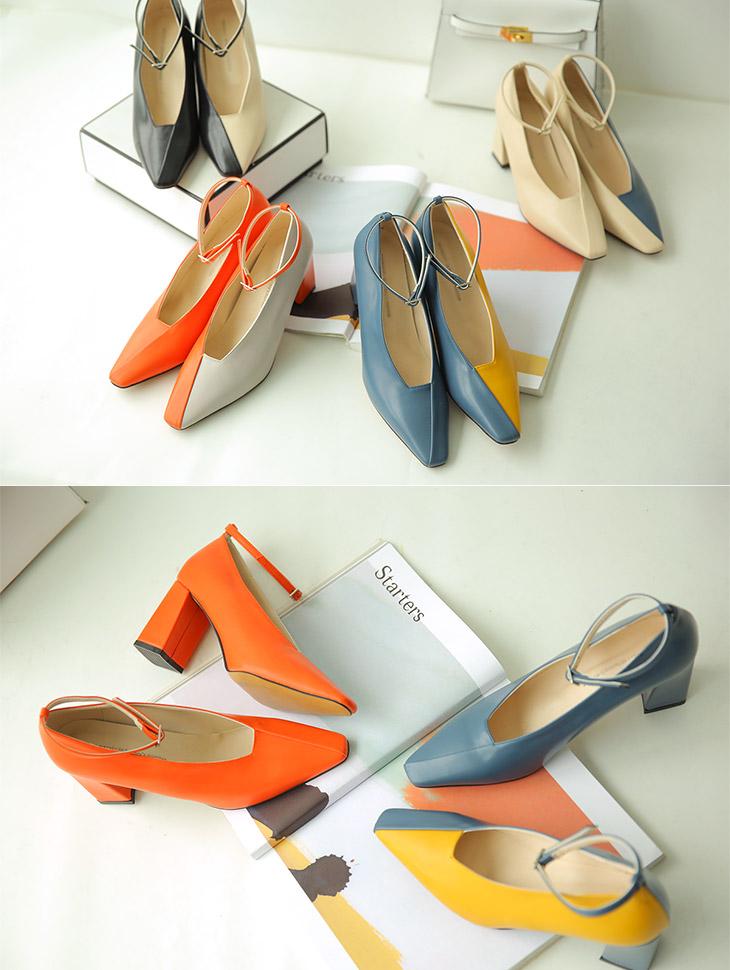 AR-2236 Color mix key point Strap heel