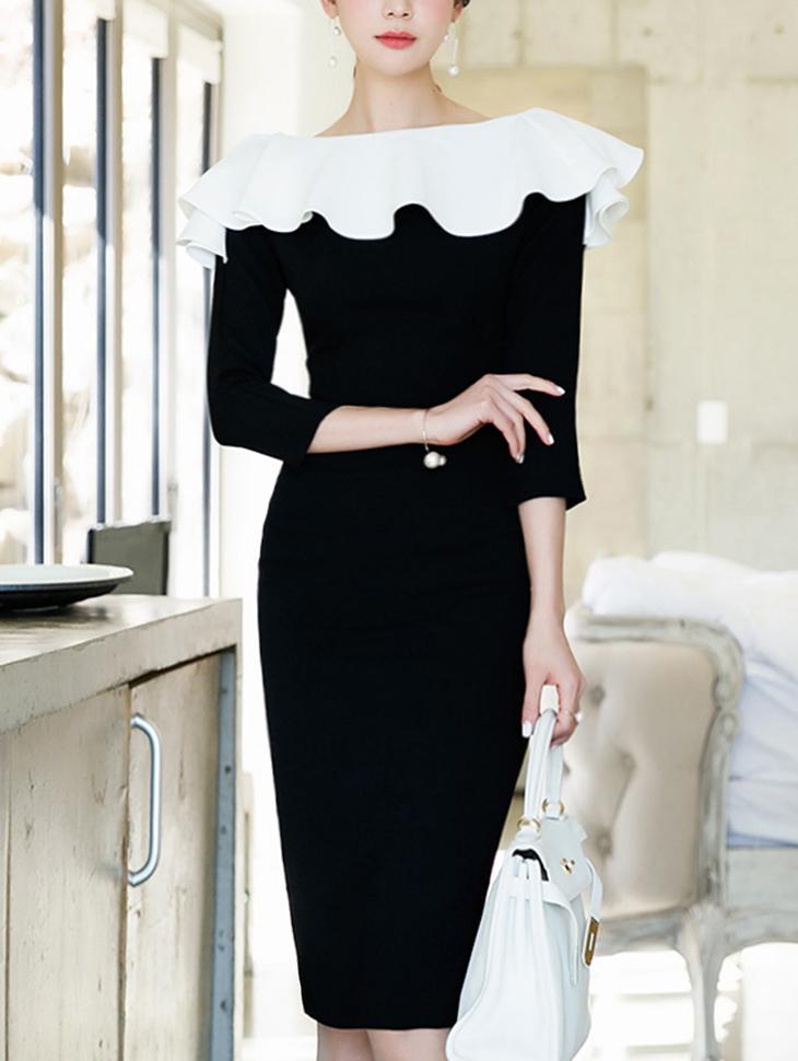 D3771 Ruffle Flow Kara Dress