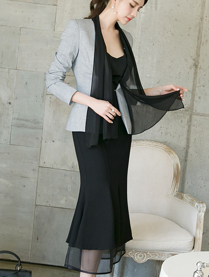 J602 Ad Scarf Jacket (ScarfSET) * L size production * (9th REORDER)