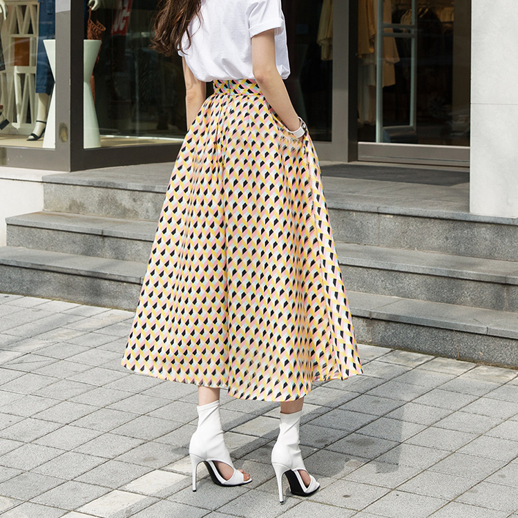 SK9038 Conate Color Cube Skirt