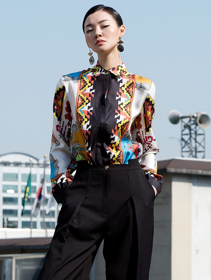 S294 Krelin Silk Etro Patterns Shirt