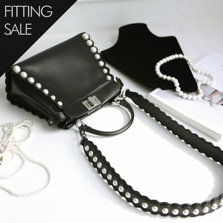 PS1551 pearl string Square Bag * Fitting Sale *