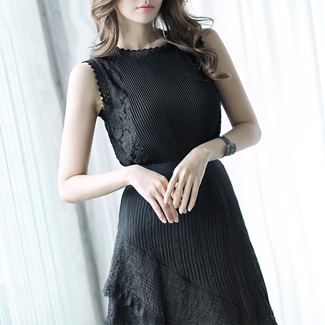 B2245 laces pleats Blouse (76th REORDER)