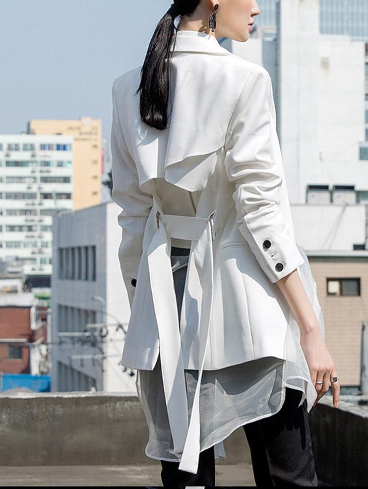 J616 レ デ ィ ン バ ッ グ square unbutton line jacket (belt set)