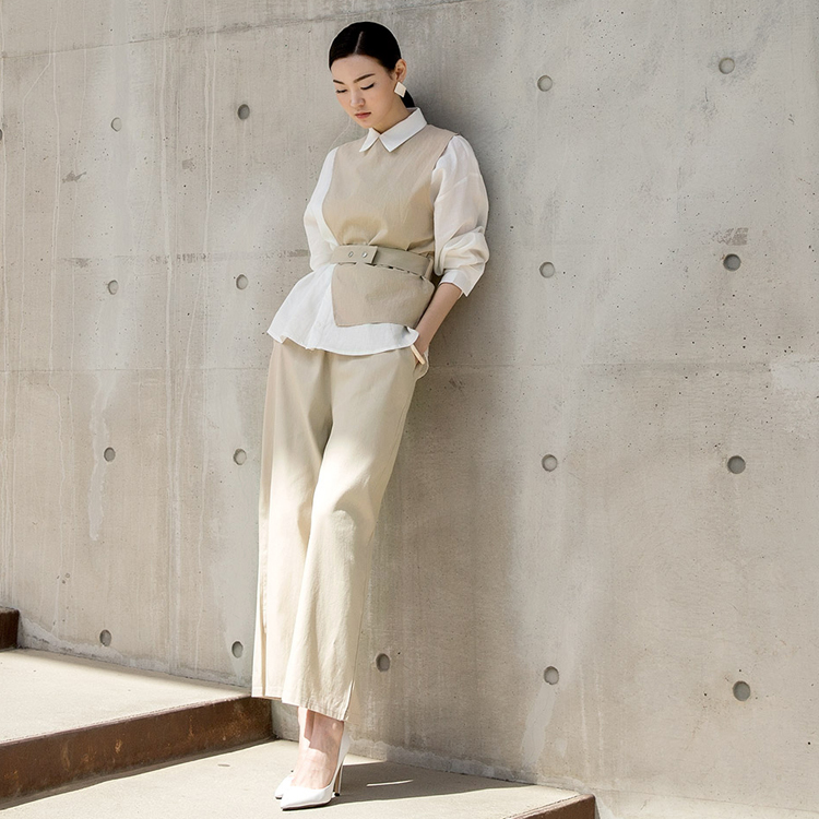 P2036 High Line Wide Cotton Pants (15reorder)