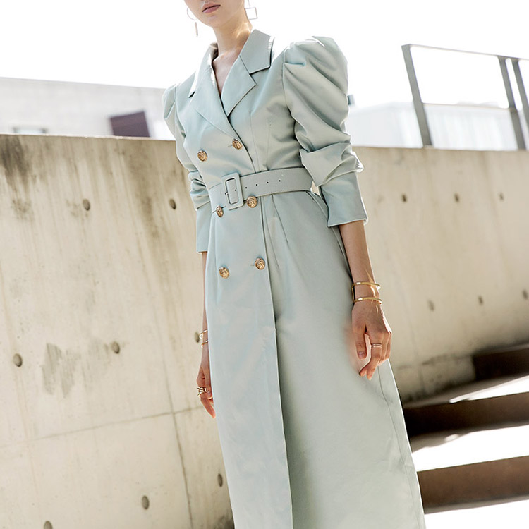 D3777 Kay Tin Gold Button Dress (Belt set) * Can be worn as outerwear * (30th REORDER) * Hotel De Luna IU wear *