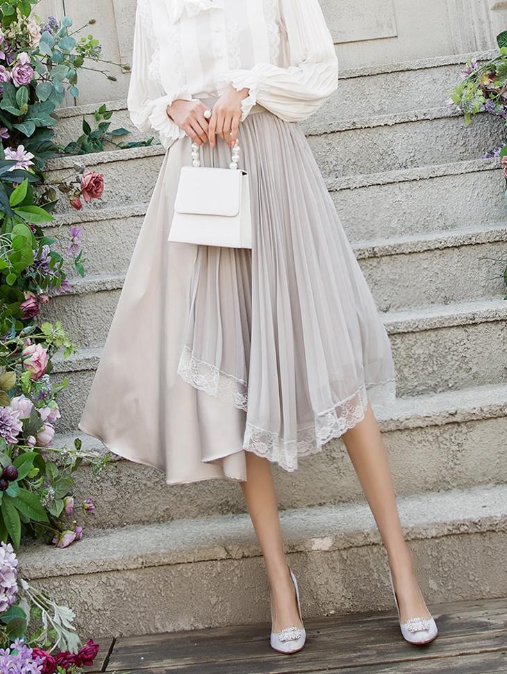 SK1886 Belize Chiffon Lace Skirt