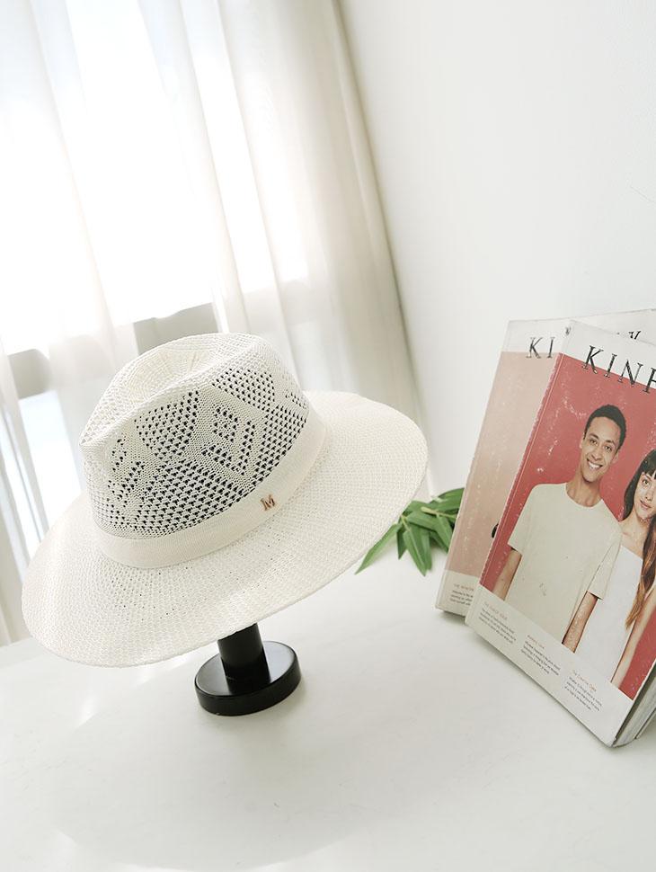 AC-518 Summer Fedora Hat (broochset)