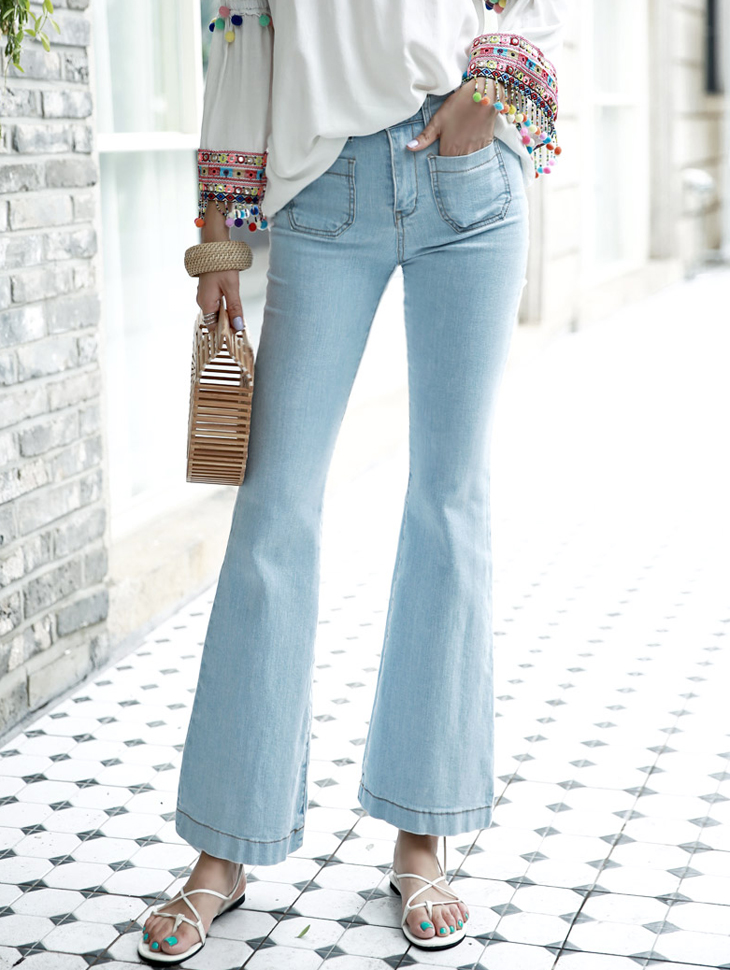PJ319 Out Pocket High Waist Boot Cut Pants (50reorder)