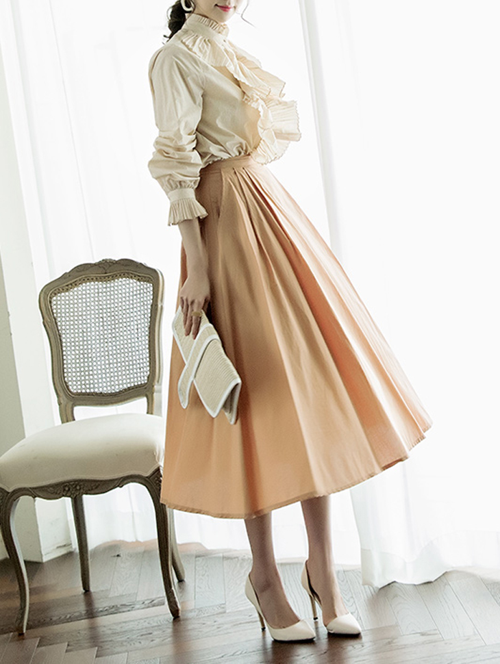 SK1884 Matte Natural Cotton Skirt