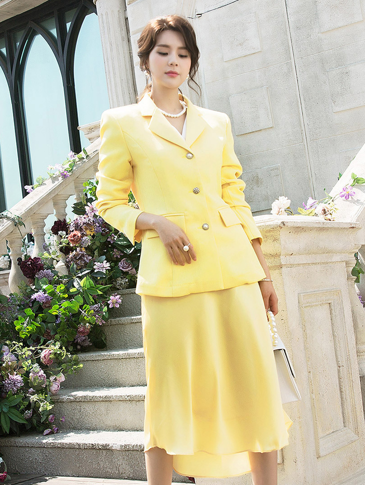 J634 buzz pearl button jacket