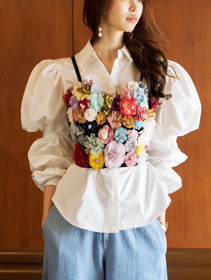 E1963 Romantic Flower Tube TOP (3reorder)