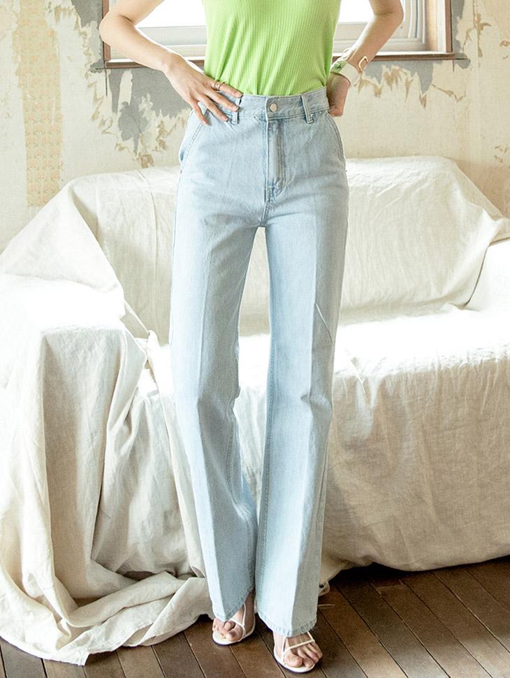 PJ367 Long Shish Straight Denim Pants