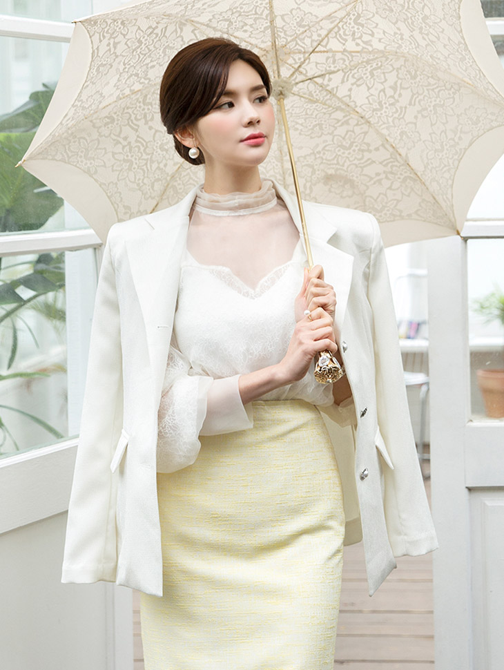 J634 Burj Pearl Button Jacket