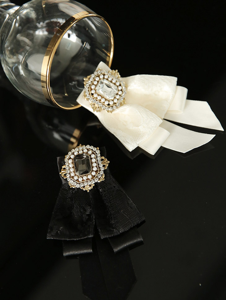 AB-153 double bling bowknot brooch