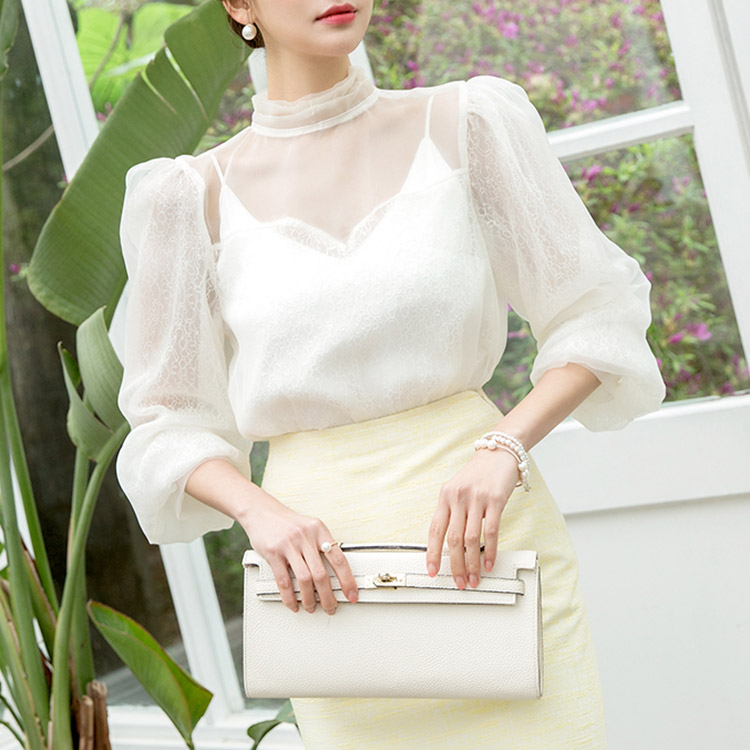 B2421 See-through Lace Parts Blouse (27th REORDER)