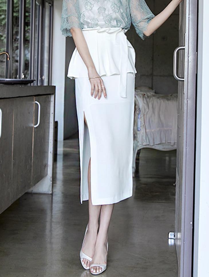 SK1717 En Shu Slit Long Skirt (Corsetset) (15reorder)