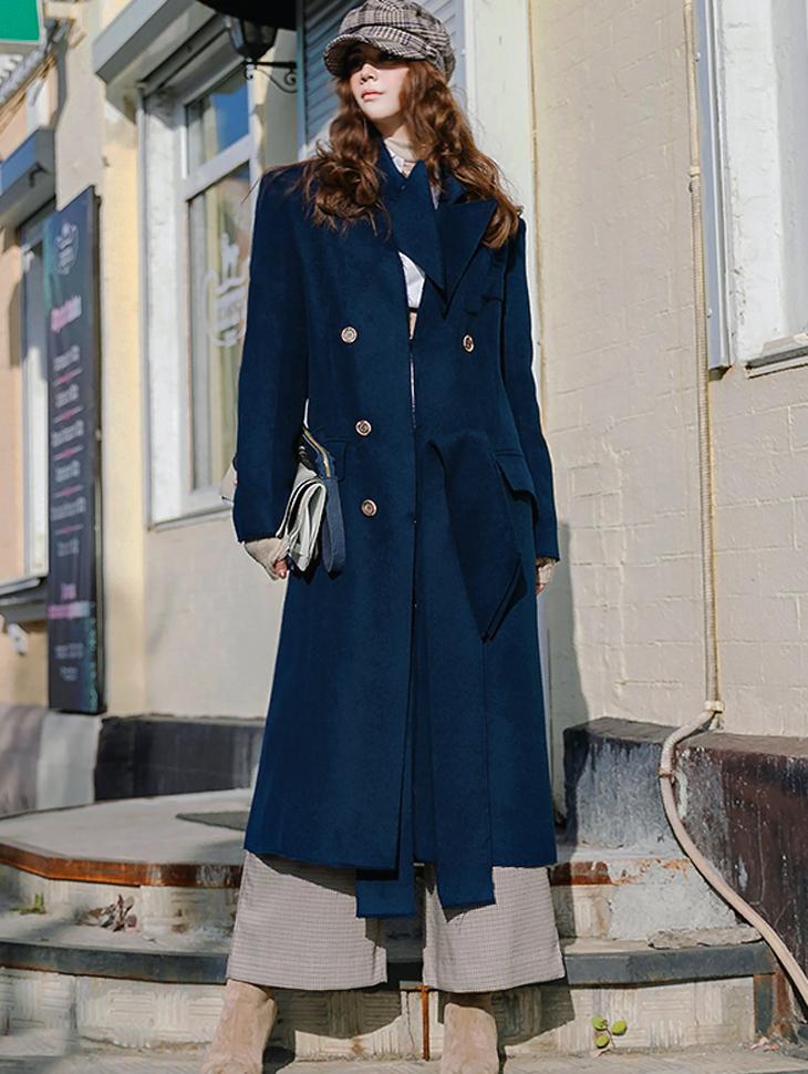J-5078 Marl Wool Long Coat
