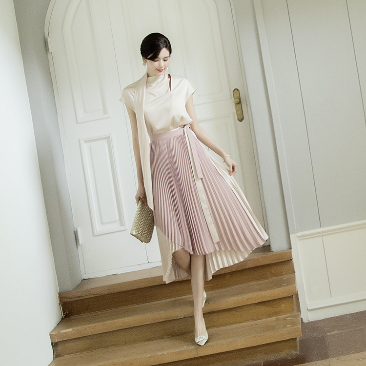 SK1891 Pound Pleats Wrap Skirt (9reorder)