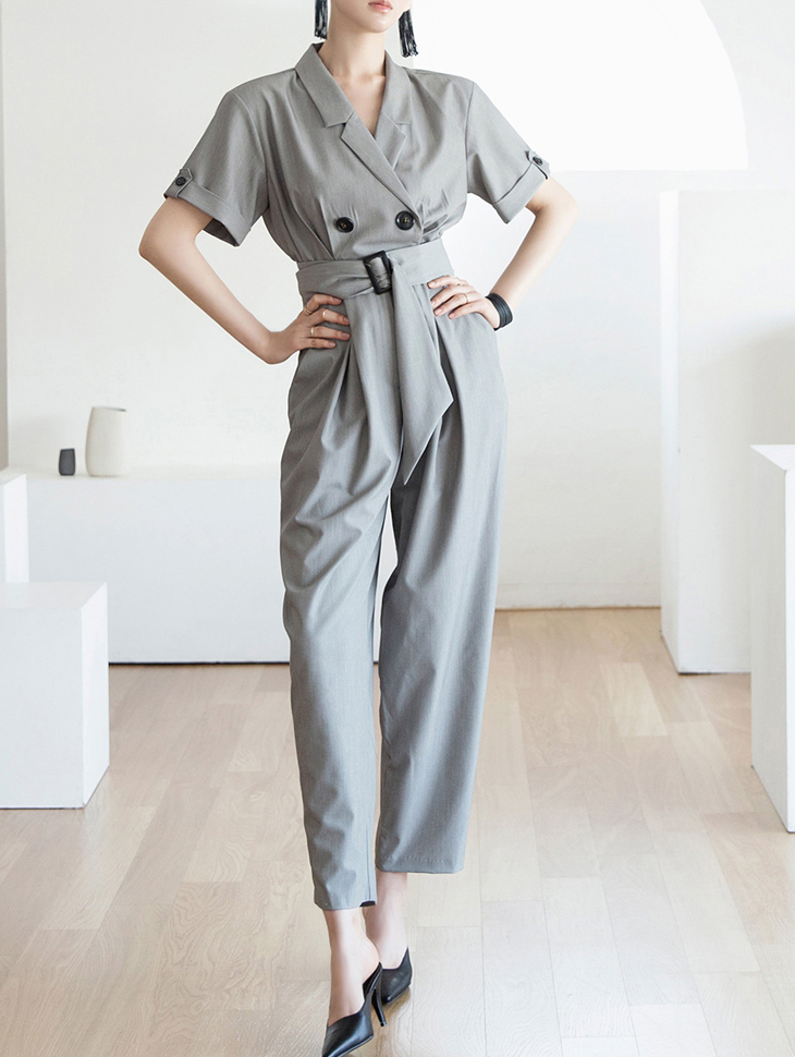 D3793 Katherine Tailored Jump Suit (Beltset)