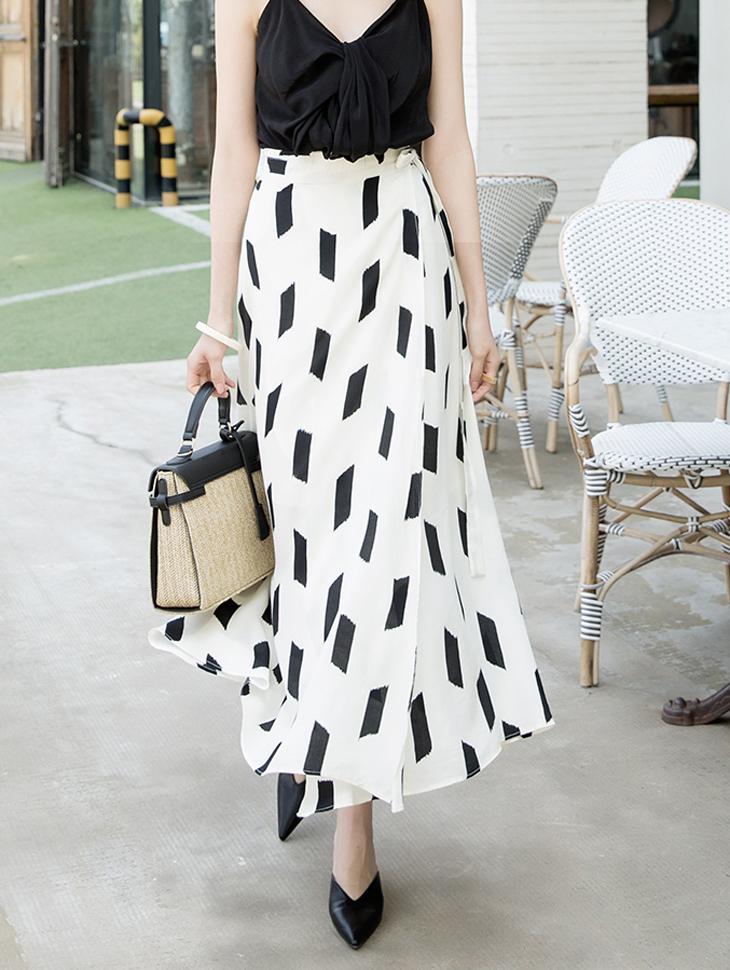 SK1896 Vijo Square Wrap Skirt
