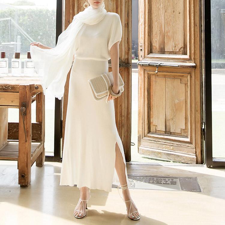 D3800 Enish Knit Long Dress (22reorder)