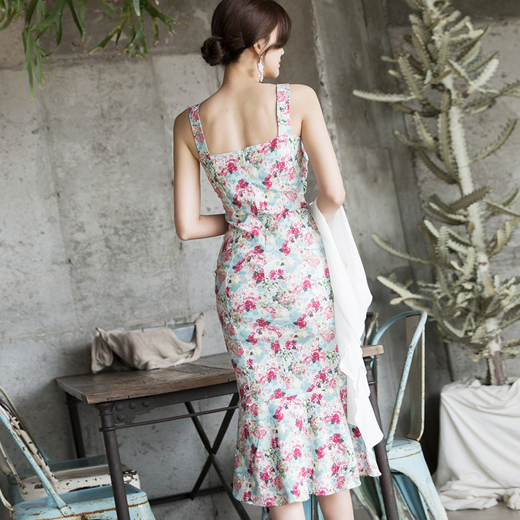 D3803 Flower twist Point Dress
